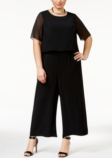 Alfani Plus Size Illusion Overlay Jumpsuit, Only at Macy's