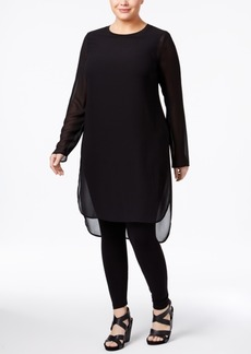 Alfani Plus Size Illusion Tunic, Only at Macy's