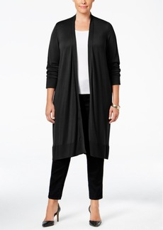 Alfani Plus Size Knee-Length Cardigan, Only at Macy's
