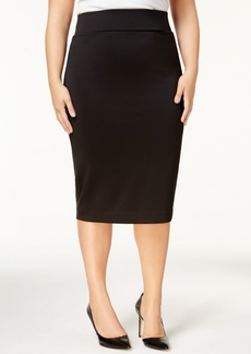 Alfani Plus Size Knit Pencil Skirt, Created for Macy's