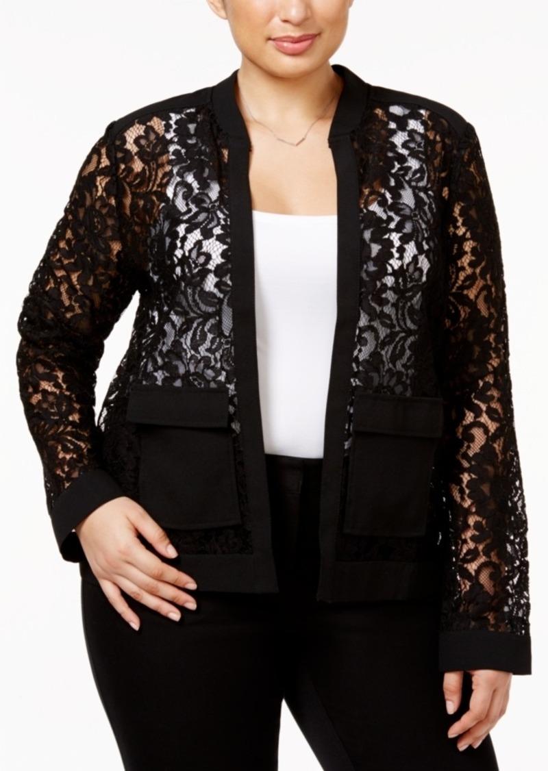 Alfani Alfani Plus Size Lace Bomber Jacket Only At Macy S