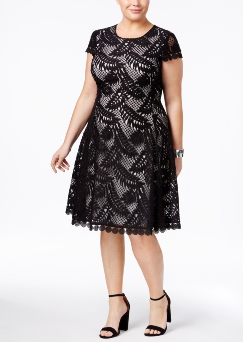 Plus Size Lace Fit & Flare Dress, Only at Macy\'s