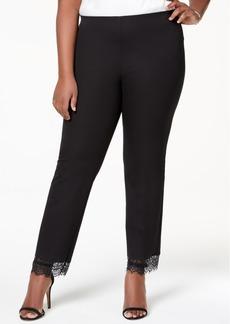 Alfani Plus Size Lace-Hem Ankle Pants, Created for Macy's