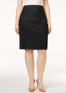 Alfani Plus Size Lace Pencil Skirt, Only at Macy's