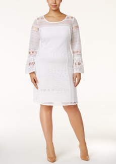 Alfani Plus Size Lace Shift Dress, Only at Macy's