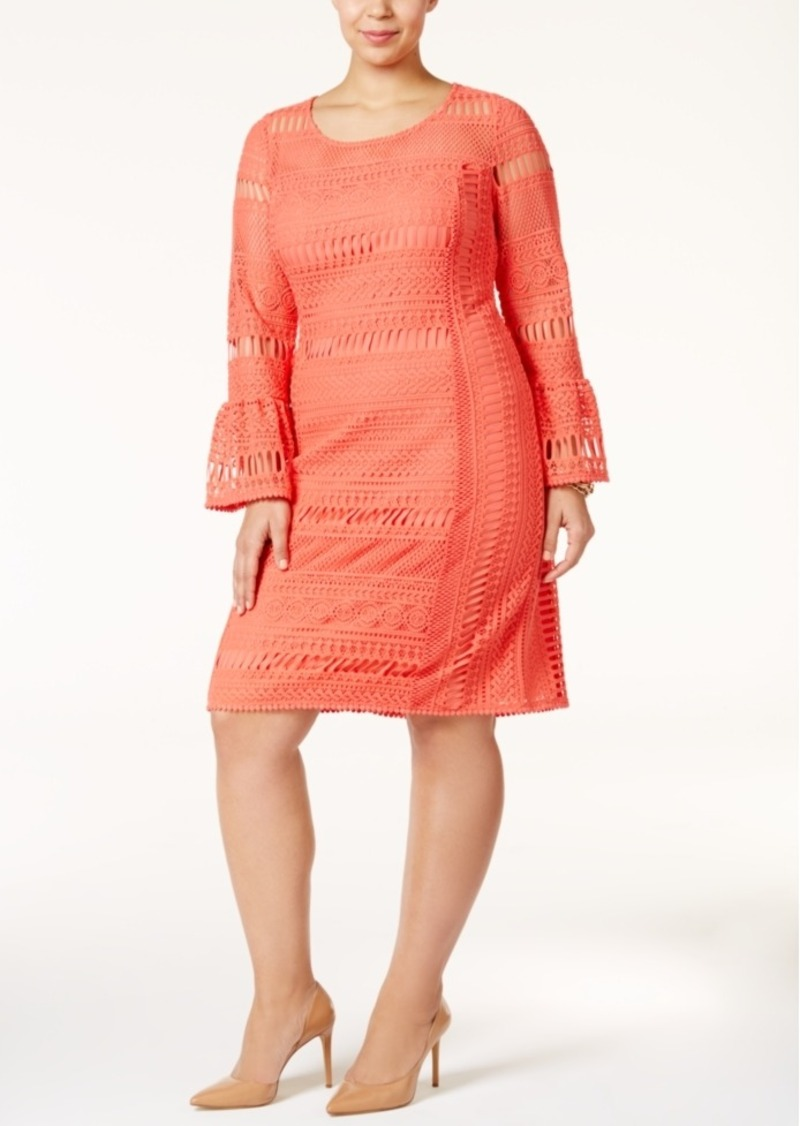Plus Size Lace Shift Dress, Only at Macy\'s