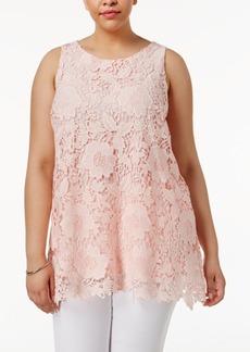 Alfani Plus Size Lace Tunic, Only at Macy's