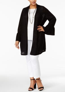Alfani Plus Size Linen-Cotton Duster Cardigan, Created for Macy's