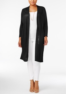 Alfani Plus Size Linen Duster Cardigan, Only at Macy's