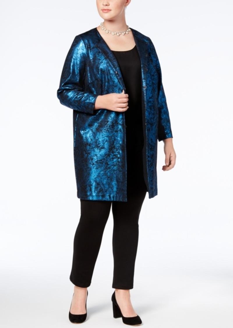 4830be4d24f26 Alfani Alfani Plus Size Metallic Jacquard Jacket