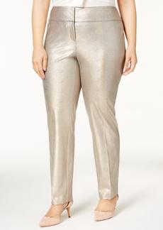 Alfani Plus Size Metallic Pants, Created for Macy's