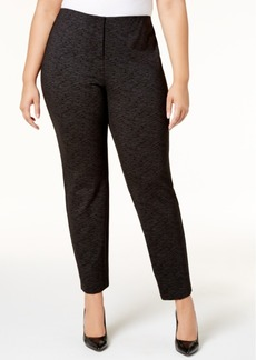 Alfani Plus Size Metallic Ponte-Knit Slim Pants, Created for Macy's