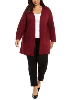 Alfani Plus Size Metallic Striped Cardigan, Created For Macy's
