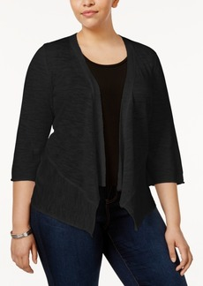 Alfani Plus Size Open-Front Cardigan, Only at Macy's