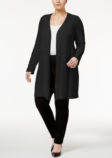 Alfani Plus Size Open-Front Knit Cardigan, Only at Macy's