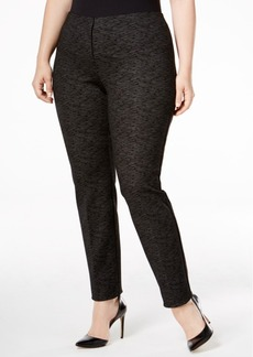 Alfani Plus Size Patterned Skinny Pants, Only at Macy's