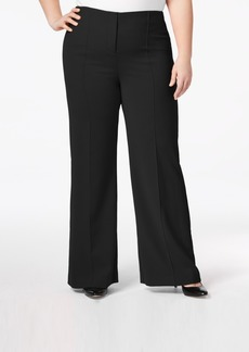 Alfani Plus Size Pintucked Wide-Leg Pants, Created for Macy's