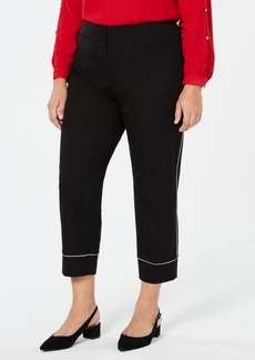 Alfani Plus Size Piped Ankle Pants, Created for Macy's
