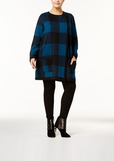 Alfani Plus Size Plaid Cardigan, Created for Macy's