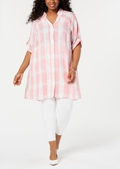 Alfani Plus Size Plaid Super Tunic, Created for Macy's