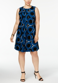 Alfani Plus Size Pleated A-Line Dress, Created for Macy's