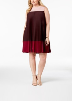 Alfani Plus Size Pleated Swing Dress, Created for Macy's