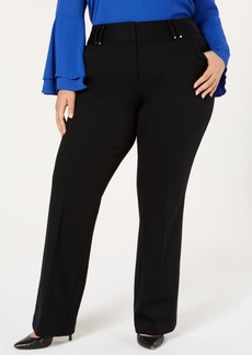 Alfani Plus Size Ponte-Knit Bootcut Pants, Created for Macy's
