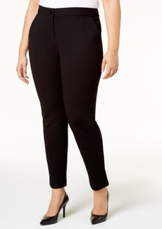 Alfani Plus Size Tummy-Control Ponte-Knit Pants, Created for Macy's