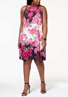 Alfani Plus Size Printed Halter-Neck Dress, Created for Macy's