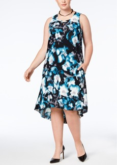 Alfani Plus Size Printed High-Low Dress, Created for Macy's