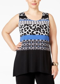 Alfani Plus Size Printed High-Low Tunic, Only at Macy's
