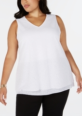Alfani Plus Size Printed Layered-Hem Top, Created for Macy's