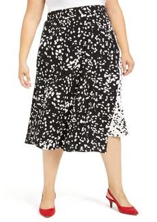 Alfani Plus Size Printed Midi Skirt, Created For Macy's