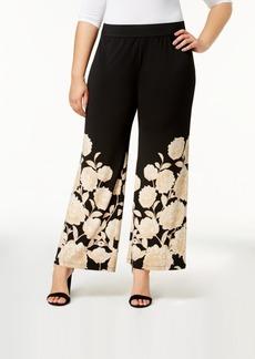 Alfani Plus Size Printed Palazzo Pants, Created for Macy's