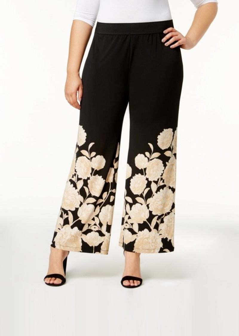 39083f35074 Alfani Alfani Plus Size Printed Palazzo Pants, Created for Macy's ...