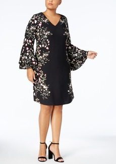 Alfani Plus Size Printed Peasant Dress, Created for Macy's