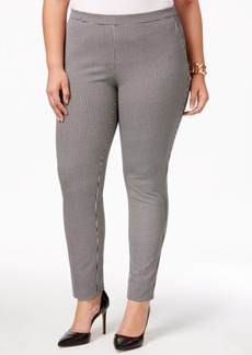 Alfani Plus Size Printed Pull-On Skinny Pants, Only at Macy's