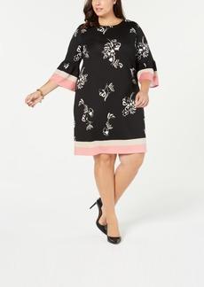 Alfani Plus Size Printed Scuba Dress, Created for Macy's