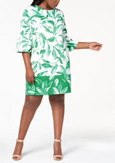 Alfani Plus Size Printed Scuba Fit & Flare Dress, Created for Macy's