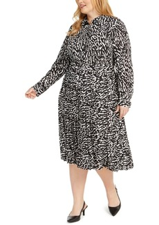 Alfani Plus Size Printed Shirtdress, Created For Macy's
