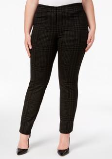 Alfani Plus Size Printed Skinny Pants, Created for Macy's