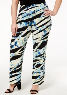 Alfani Plus Size Printed Soft Pants, Created for Macy's