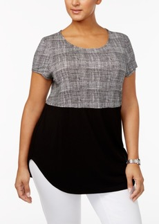 Alfani Plus Size Printed T-Shirt, Created for Macy's