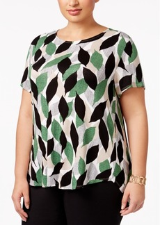 Alfani Plus Size Printed T-Shirt, Only at Macy's