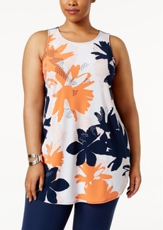 Alfani Plus Size Printed Tunic, Only at Macy's