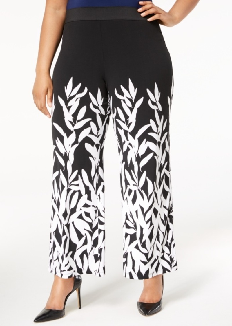 204489d7dd8 Alfani Alfani Plus Size Printed Wide-Leg Pants