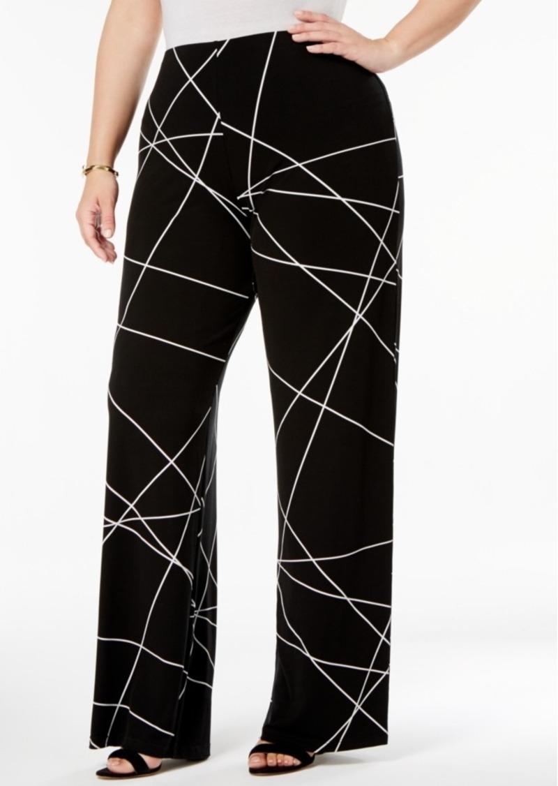 0f456a86bec Alfani Alfani Plus Size Printed Knit Wide-Leg Pants