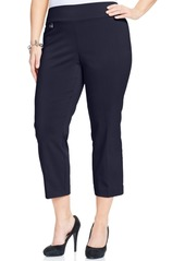 Alfani Plus & Petite Plus Size Tummy-Control Capri Pants, Created for Macy's
