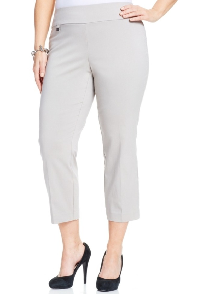 Alfani Alfani Plus Size Pull-On Capri Pants, Only at Macy's ...
