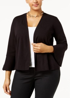 Alfani Plus Size Ruffle-Cuff Cardigan, Only at Macy's